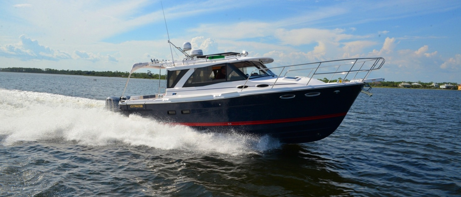 Cutwater factory direct boat on sale now Emile Petro at 850-341-1105