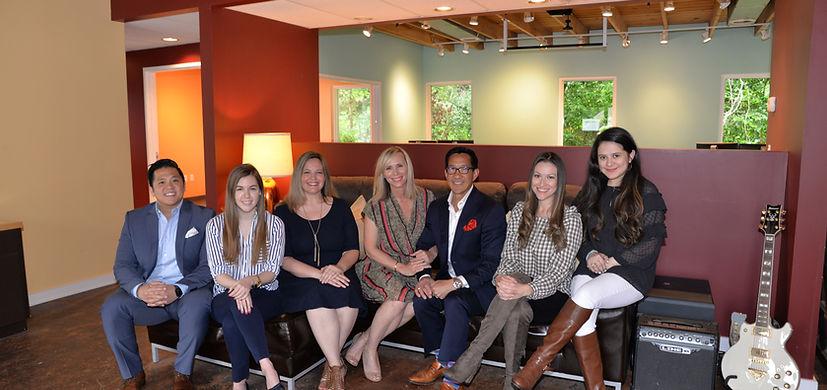 From left to right: Froggy, Kara, BobbyJo, Wendy, Leash, Christina, and Nina