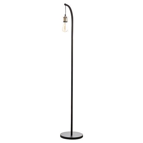 Industrial Black And Brass Floor Lamp Inc Bulb