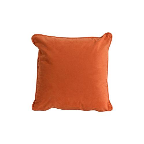 Orange Velvet Cushion 40x40cm