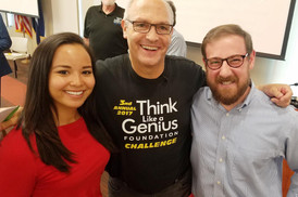 Nathan Yip Foundation Executive Director Tarika Cefkin, Think Like A Genius Foundation Founder and Executive Director Eric Siler, and Friends of Nathan Yip Board Member Alan Frosh.