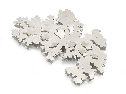 Parmelia brooch No.1, sterling silver