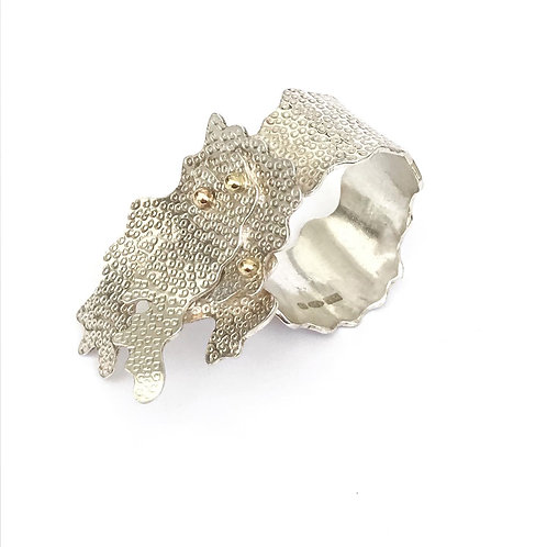 Evernia sterling silver and 22ct gold ring product shot