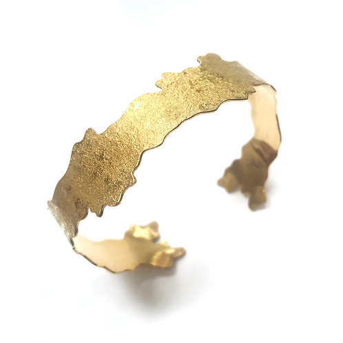 Branching cuff, gold vermeil, sterling silver, oxidised silver