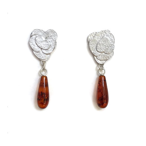 Amber drops, front view, product shot