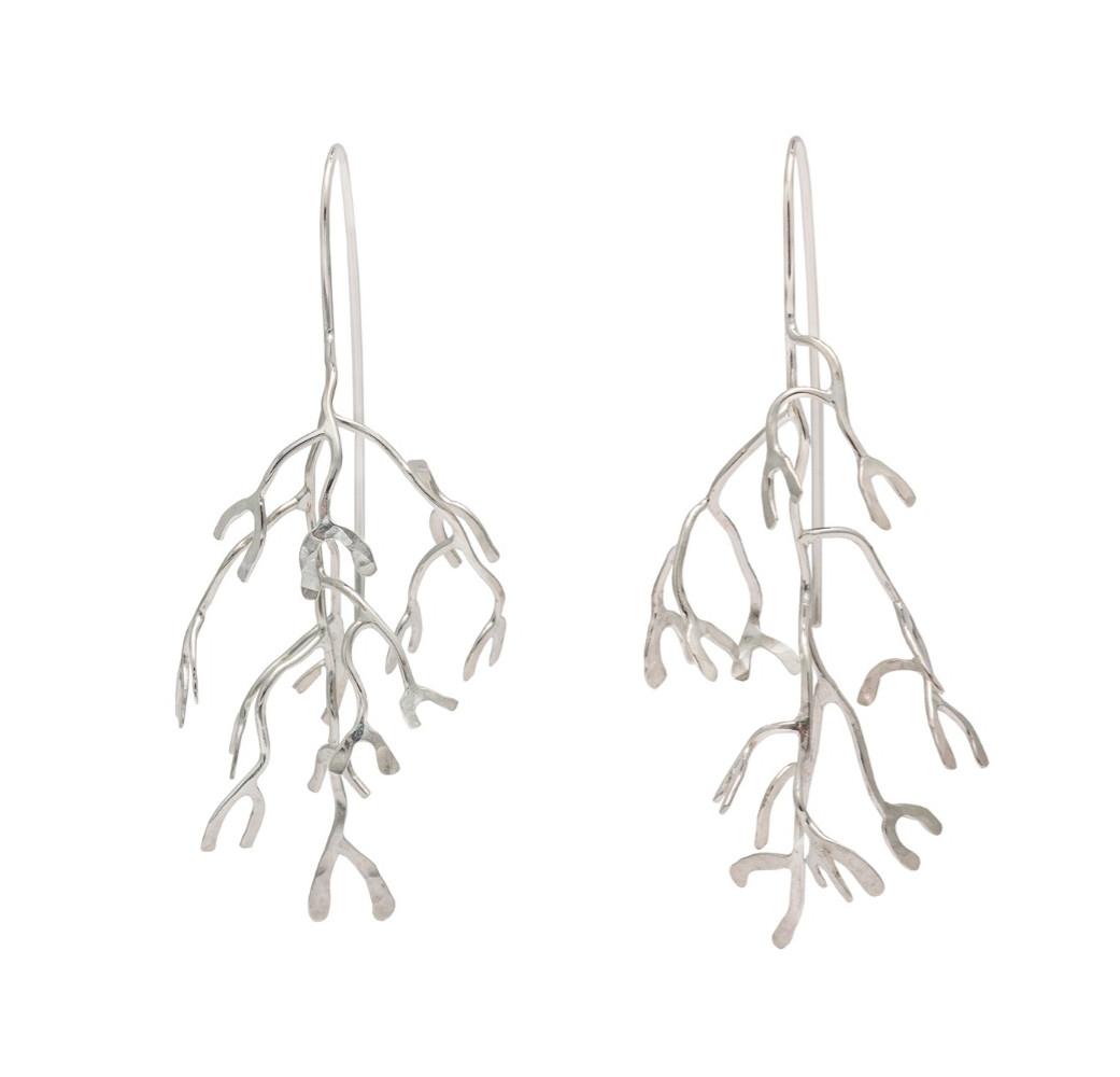 Branching drop earrings