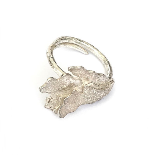 Bijou foliose adjustable ring, product shot