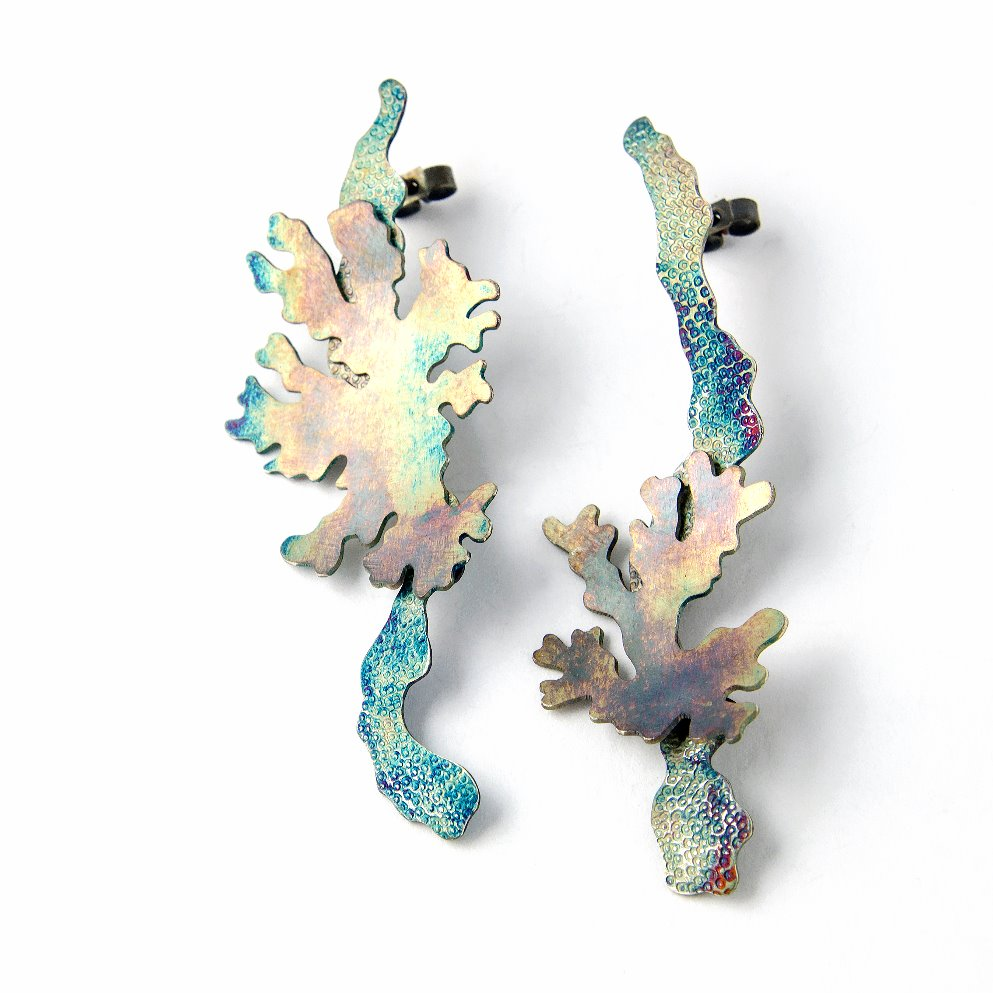 Foliose earrings