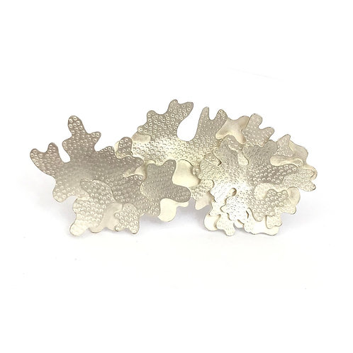 Evernia handcrafted sterling silver brooch product shot