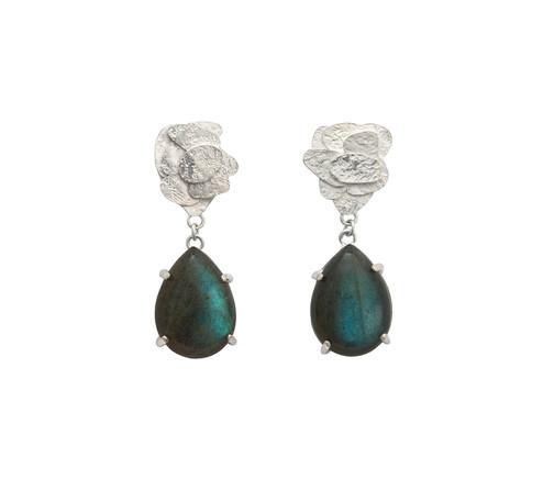 Labradorite drop earrings, Kate Bajic