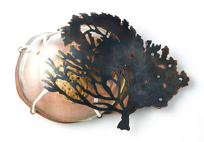 Peach Tree brooch, Kate Bajic, 2016
