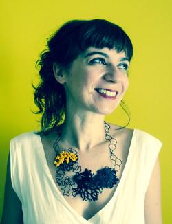Evolve necklace worn by Zeta Tsermou