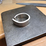 Sterling silver ring commission, Kate Ba