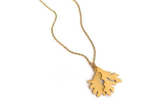 Fragment pendant, gold vermeil