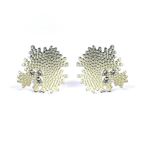 Parmelia stud earrings, sterling silver
