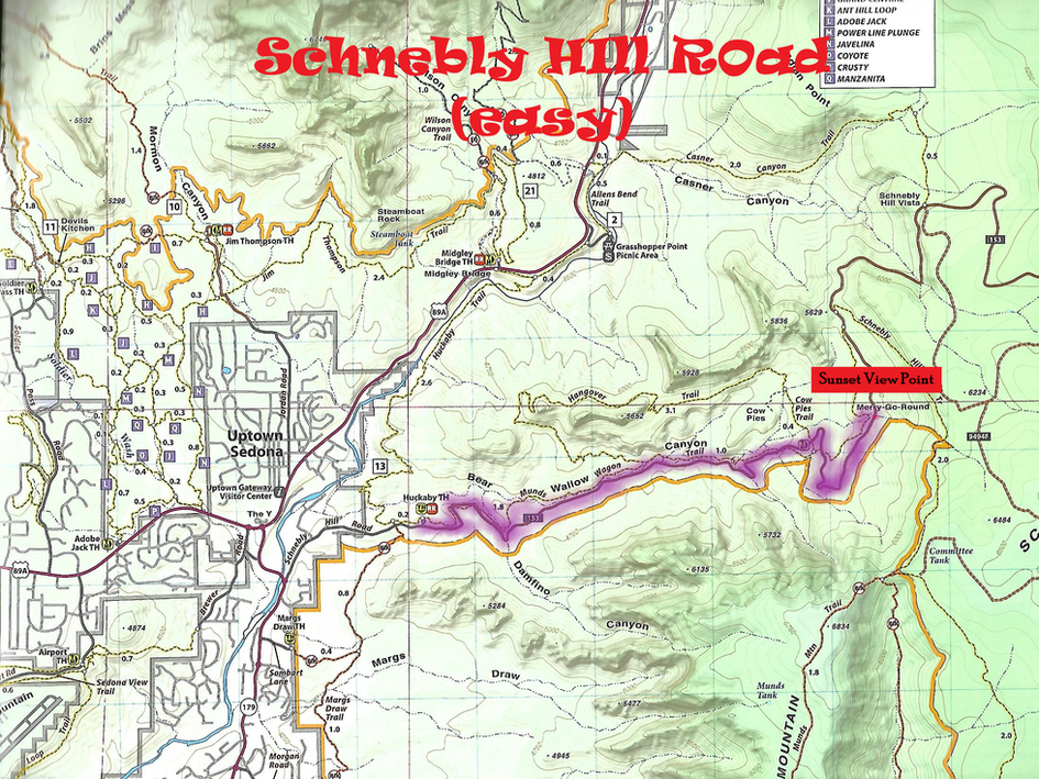 Schnebly Hill Map