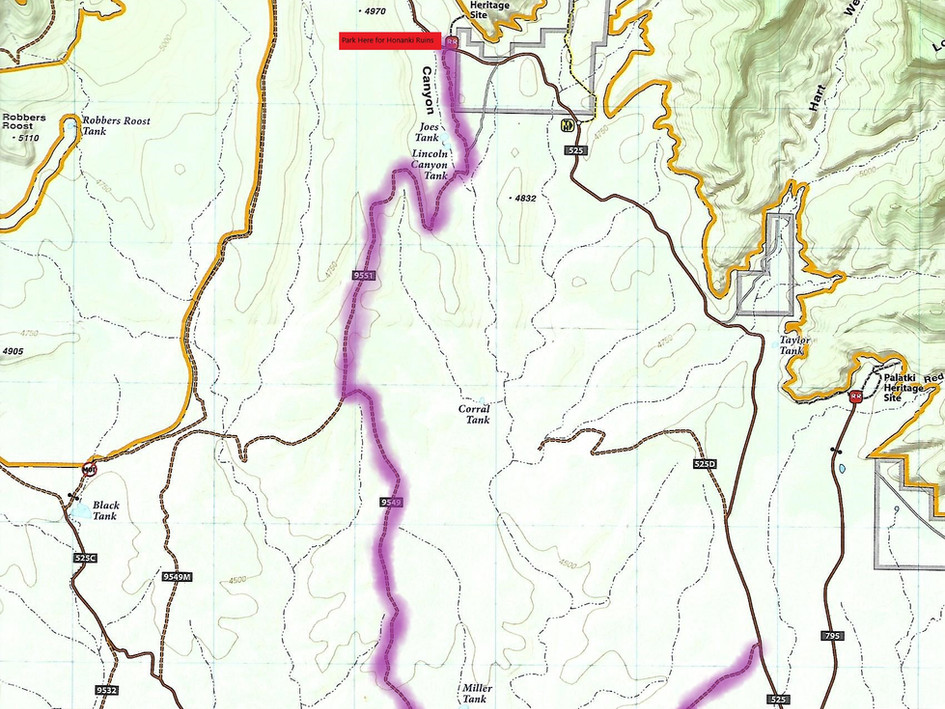 Outlaw Trail Map