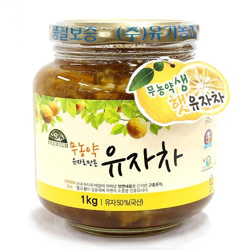 무농약 유자로 만든 유자차 1kg