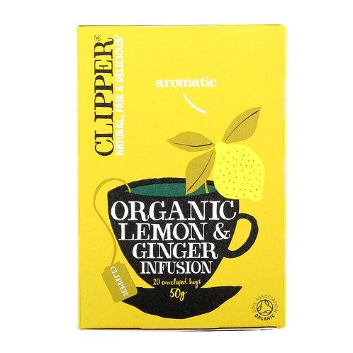 클리퍼 유기농 레몬 앤 진저 티 50g