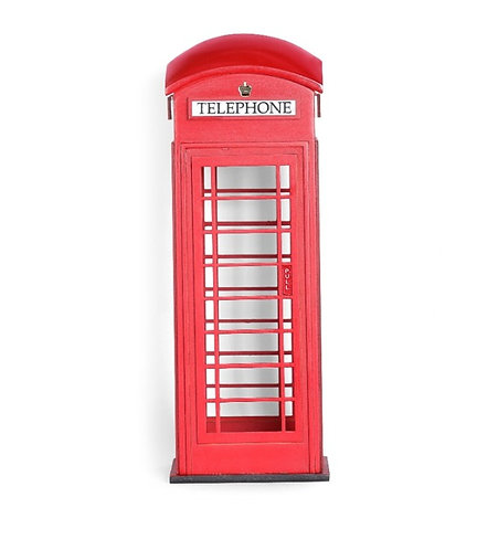 Table Top telephone booth Sculpture wood