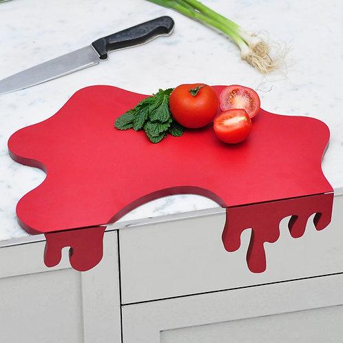 Tomato splash chopping board