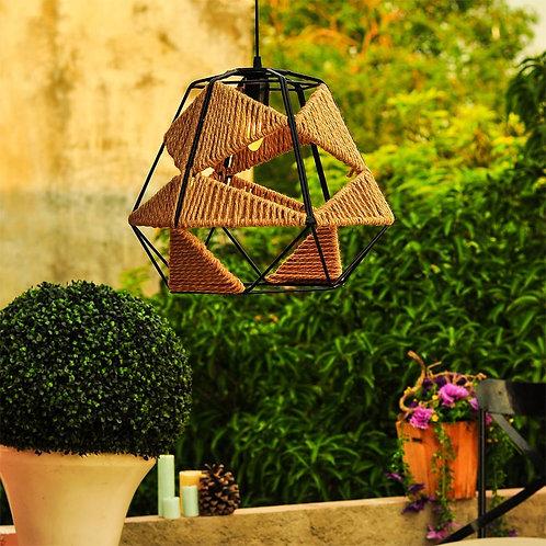 Big Metal Jute Pendant Lamp