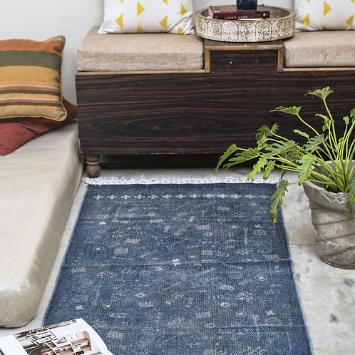 Printed cotton bed runner