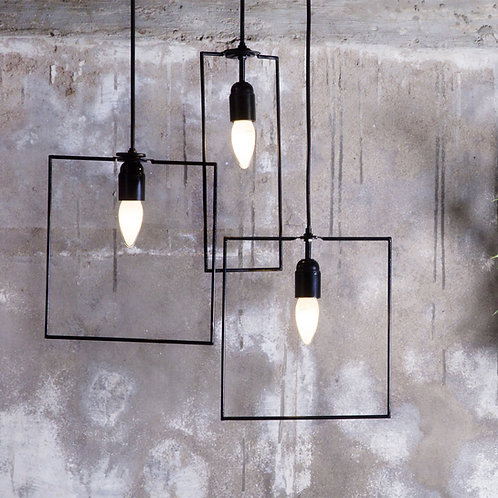 Illusion geometric lamps