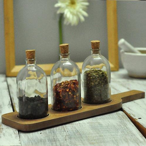 Dining platter with Seasoning bottles