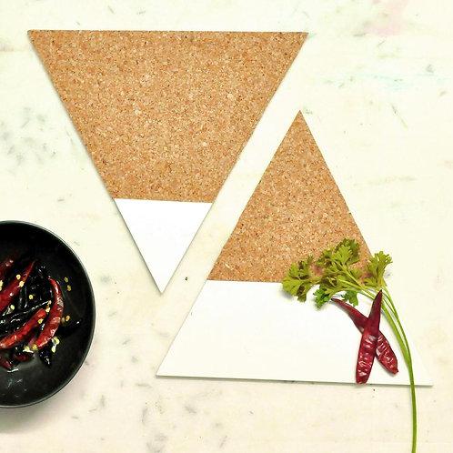 Triangle cork trivets