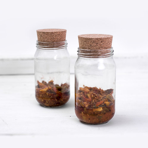 Classic Pickle jar with cork