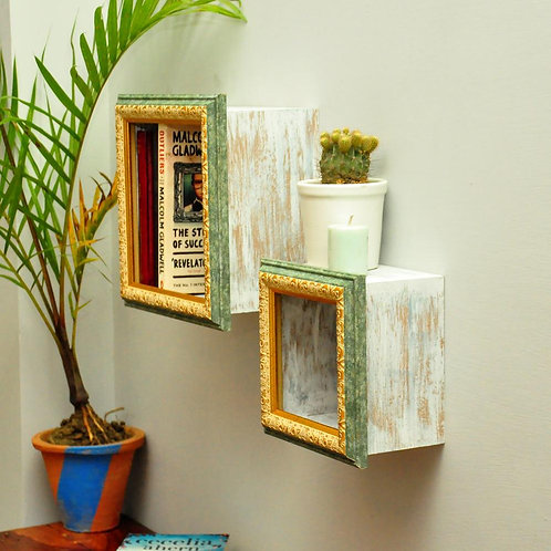 Wall frame shelves   set of 2