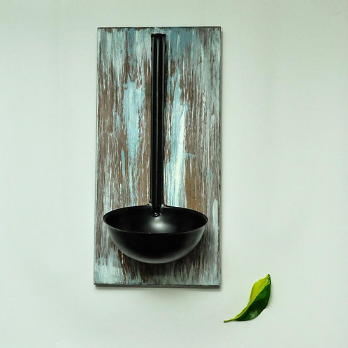 Wall mounted vintage candle holder