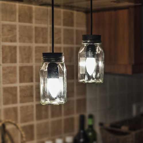 Glass Mason Jar Chandelier
