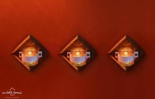Wall décor | Bathroom Brush holder | Planter | Tealight holder