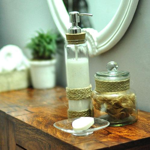 Royal glass bath accessory set