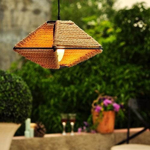 Metal Corner Jute Pendant Lamp