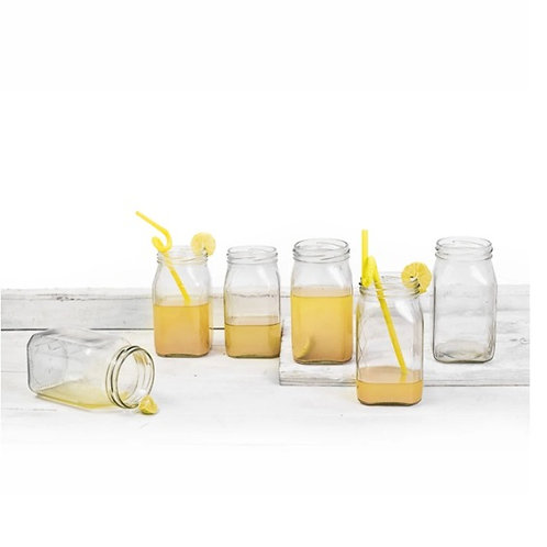 Glass jars without cork