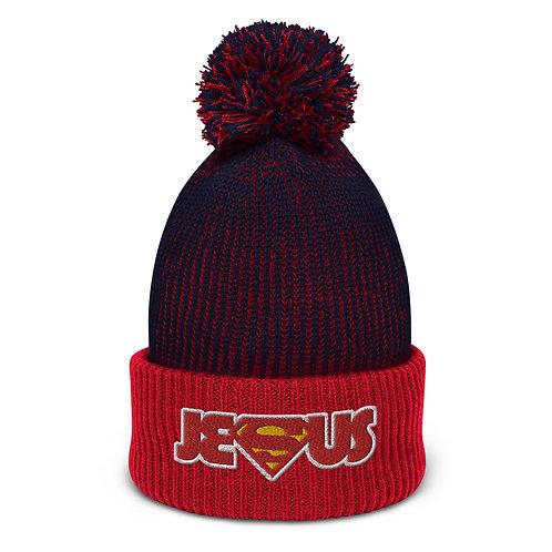 Super Jesus Pom-Pom Beanie