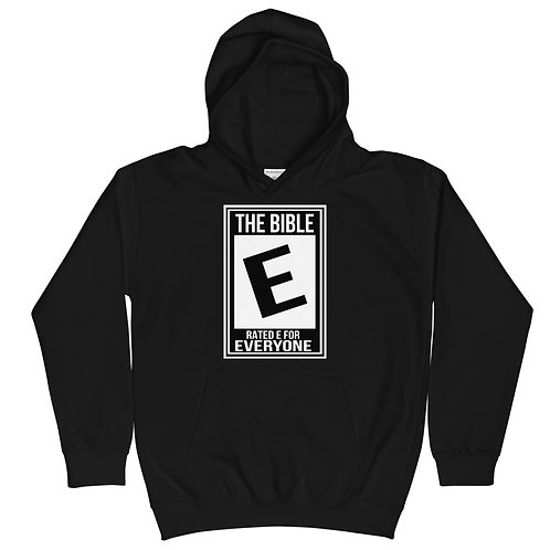 Rated E for Everyone Kids Hoodie