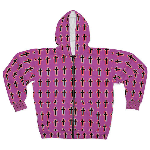 Cool Pink Cross Hoodie