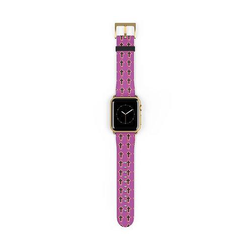 Cool Pink Cross Watch Band
