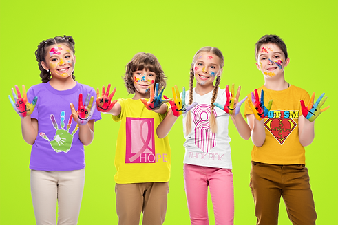 t-shirt-mockup-of-a-group-of-four-kids-p