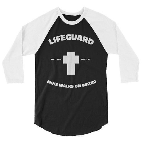 Life Guard 3/4 sleeve raglan shirt