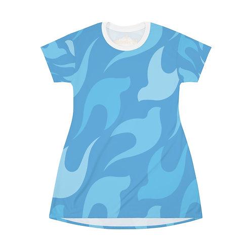 Dove All Over Print T-Shirt Dress
