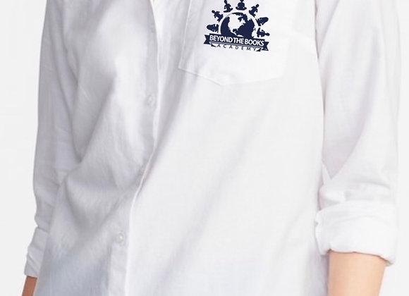 White Long Sleeve Button Down Shirt