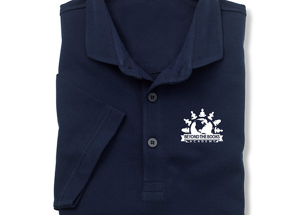 Navy/White Logo Polo Shirt
