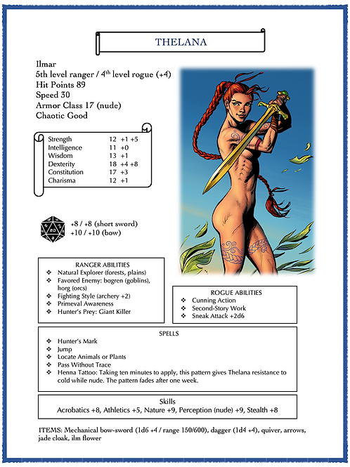 Thelana for Dungeons & Dragons 5th Edition