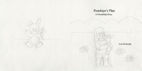 Penelope's Plan cover, final drawing 2.j