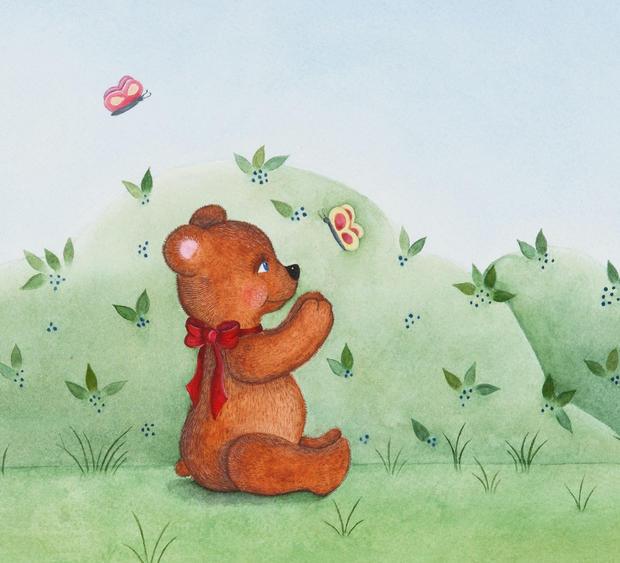 Bear with Butterflies